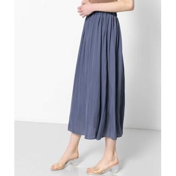 [センスオブプレイス] スカート ワッシャープリーツスカート レディース BLUE S