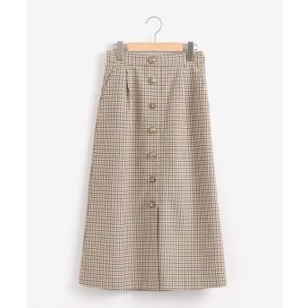 【ニーム/NIMES】 チェックセミタイトスカート