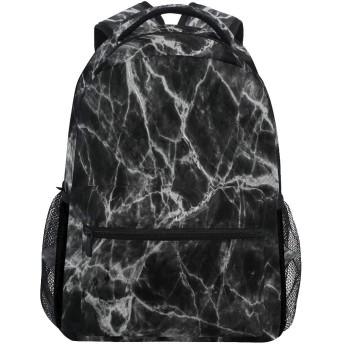 黒白い大理石の石のテクスチャ バックパック多目的大容量ビジネスバッグユニセックスバックパック学校アウトドアビジネス