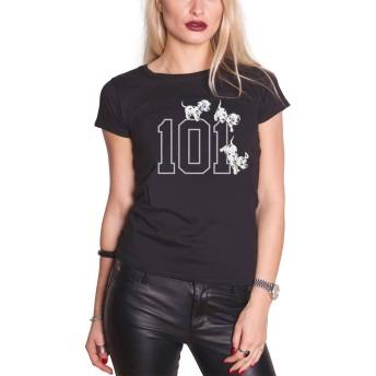 101 Dalmations T Shirt 101 Doggies 公式 Disney レディーズ Skinny Fit Size 10