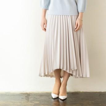 クリス・セリーン ラップ風デザイン プリーツスカート