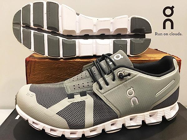 ON 瑞士品牌 超輕量 跑鞋/運動鞋 透氣快乾 ~Slate/Rock 淡漠灰(女) 買就送排汗襪