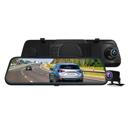 CARSCAM行車王 CR14全螢幕電子式觸控1080P後視鏡行車記錄器 贈16G記憶卡