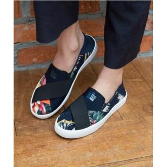 【オンワード】 Admiral Footwear(アドミラルフットウェア) 【WOMEN】【スニーカー】【スリッポン】PORTOBELLO/ ポートベロ Navy/Tropical UK6(25.0cm) レディース 【送料無料】