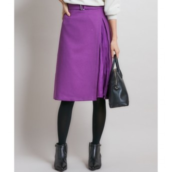 【クミキョク/組曲】 【洗える】ウールライクツイル スカート