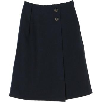 【6,000円(税込)以上のお買物で全国送料無料。】サイドボタンナロースカート