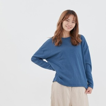 French Terry コットン Tシャツ / Blue