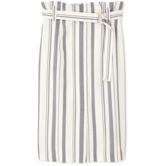 ピンキーアンドダイアン PINKY & DIANNE ドビーストライプタイトスカート ホワイト 38【税込10,800円以上購入で送料無料】