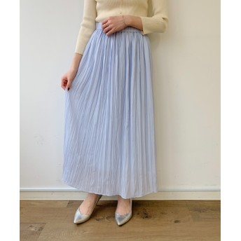 Loungedress(ラウンジドレス) レディース リンクルギャザースカート サックスブルー