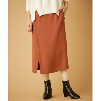 OUTLET(アウトレット) レディース 【SHENERY】ハイウエストラップタイトスカート ボルドー