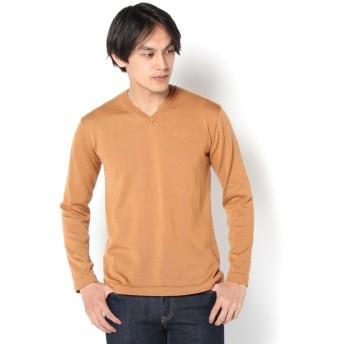 COLONY 2139(コロニー トゥーワンスリーナイン) メンズ 12G Vネックセーター オレンジ