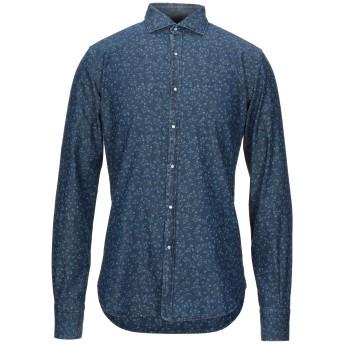 《セール開催中》BARRYMOORE メンズ シャツ ブルー 40 コットン 100%
