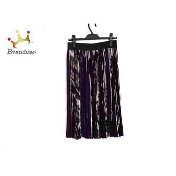 アドーア ADORE スカート サイズ38 M レディース 美品 パープル×シルバー×黒 プリーツ 新着 20200205