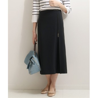 NOBLE ジップAラインスカート◆ ブラック 34