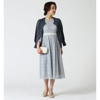 【ティアラ/TIARA】 ウエストアクセントレースドレス
