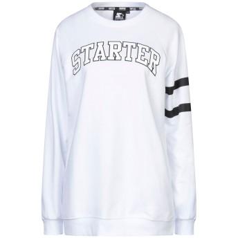 《セール開催中》STARTER レディース スウェットシャツ ホワイト M コットン 80% / ポリエステル 20%