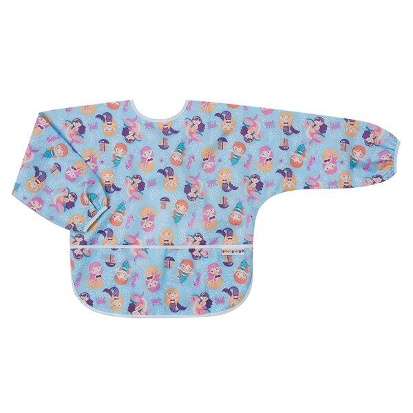 Baby City 防水長袖圍兜-紫色美人魚(1-3歲)【悅兒園婦幼生活館】
