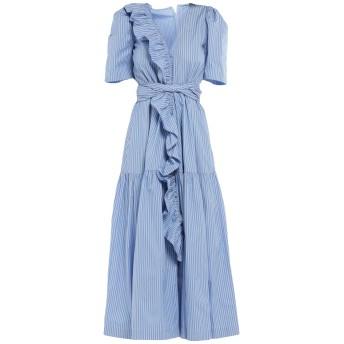 《セール開催中》STELLA McCARTNEY レディース ロングワンピース&ドレス アジュールブルー 42 コットン 100%