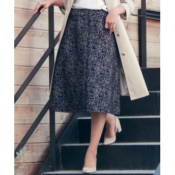 ketty/ケティ ≪洗濯機で洗える≫ラインフラワージャガードスカート ネイビー M