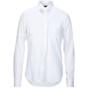 《セール開催中》HSIO メンズ シャツ ホワイト 41 コットン 68% / ナイロン 29% / ポリウレタン 3%