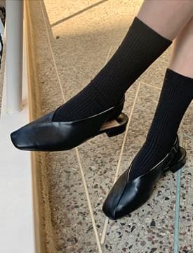 韓國空運 - Slash flat sling back shoes_P 平底鞋