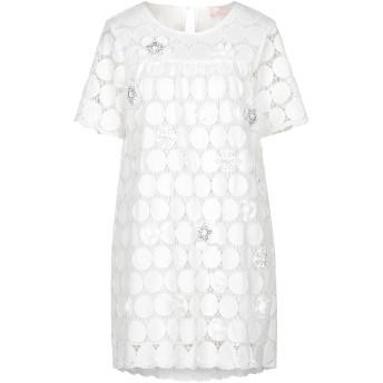 《セール開催中》SWEET SECRETS レディース ミニワンピース&ドレス ホワイト 42 コットン 100%