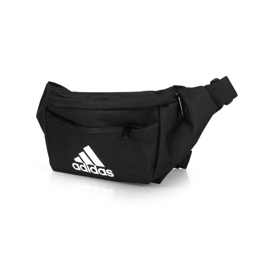 ADIDAS 運動腰包-斜跨包 臀包 斜背包 單車 自行車 愛迪達 黑白 F