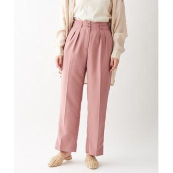 Discoat(ディスコート) レディース 《2WAY》裾フラップテーパードパンツ ピンク