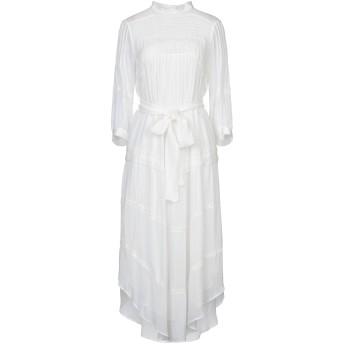 《セール開催中》BA & SH レディース 7分丈ワンピース・ドレス ホワイト 1 レーヨン 100%