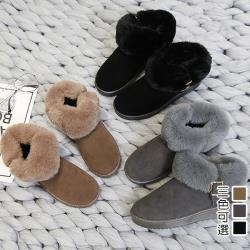 【Alice】(現貨+預購)機能毛毛平底靴