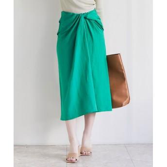 GALLARDAGALANTE(ガリャルダガランテ) レディース ツイストタイトスカート グリーン
