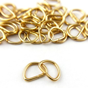 Dカン 内径10㎜ 50個セット ゴールド 線径1.3㎜ クラフトパーツ 手芸 金具 #2485