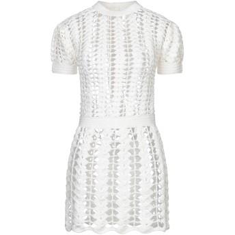 《セール開催中》PACO RABANNE レディース ミニワンピース&ドレス ホワイト 36 コットン 100%