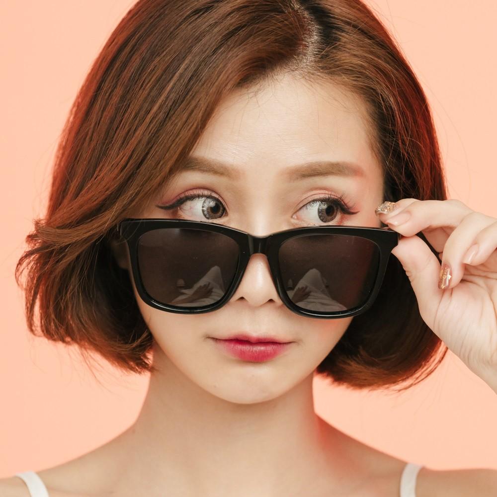 潮流造型純黑輕量TR90寶麗來偏光墨鏡│UV400太陽眼鏡│梵谷花園的夢境│ALEGANT