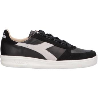《セール開催中》DIADORA HERITAGE メンズ スニーカー&テニスシューズ(ローカット) ブラック 6.5 革