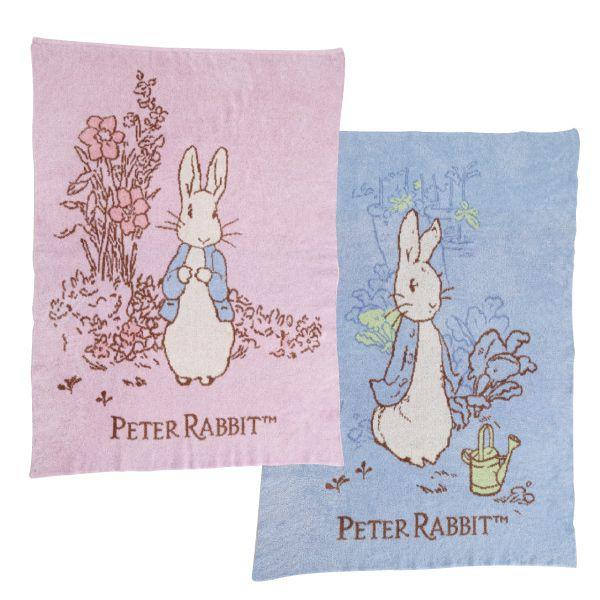 奇哥 比得兔雙層柔舒毯|禮盒|彌月禮(藍/粉)(附提袋)