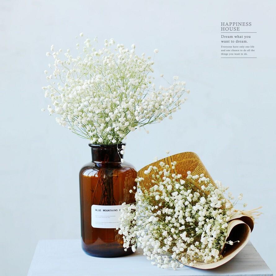 幸福小舖 乾燥花 滿天星 整束 百搭配花 永生花 仿真花 素材 不凋花 保鮮花 人造花 乾燥花材