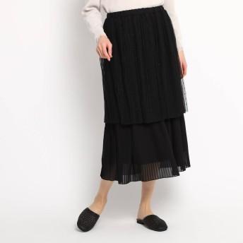 エージー バイ アクアガール AG by aquagirl シフォンプリーツチュールスカート (ブラック)
