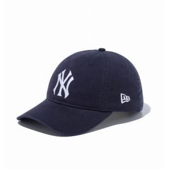 NEW ERA ニューエラ 9THIRTY クロスストラップ ウォッシュドコットン クーパーズタウン ニューヨーク・ヤンキース ネイビー × ホワイト アジャスタブル サイズ調整可能 ベースボールキャップ キャップ 帽子 メンズ レディース 56.8 - 60.6cm 12489165 NEWERA