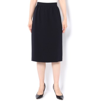 PEELSLOWLY(ピールスローリー) レディース トリアセギャザータイトスカート ネイビー