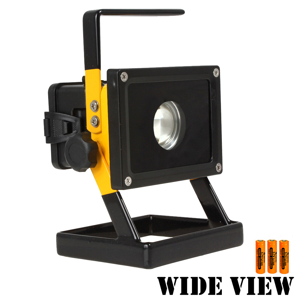 wide view10w方形防水超亮工作/照明燈組(附電池+充電器zl-803-3a)