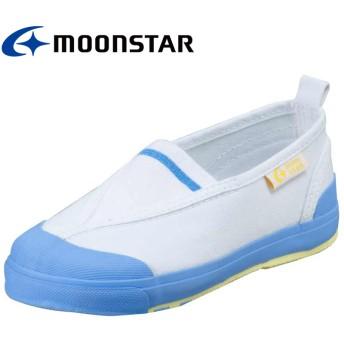 ムーンスター キャロット 子供靴 CR ST12 サックス 足の成長と健康をサポートする上履き(15.0cm)