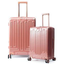 DF travel - 享受LIFE即刻出發20+28吋髮絲紋行李箱-共2色