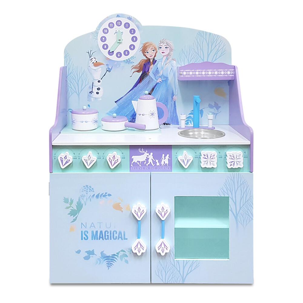 kikimmy迪士尼正版授權冰雪奇緣木製廚房玩具組(4件組)