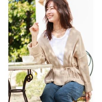 ル ジュール ローゲージ羽織りカーディガン レディース ベージュ系 FREE 【LE JOUR】