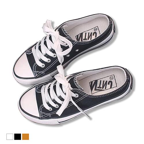 穆勒鞋.首爾時尚經典帆布鞋