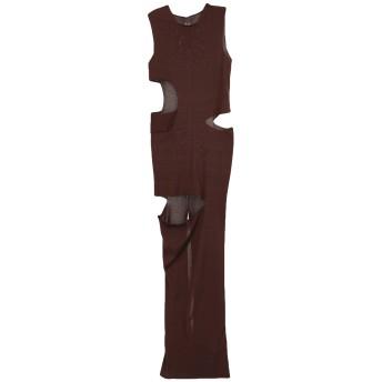 《セール開催中》RICK OWENS レディース ロングワンピース&ドレス ブラウン S シルク 100%