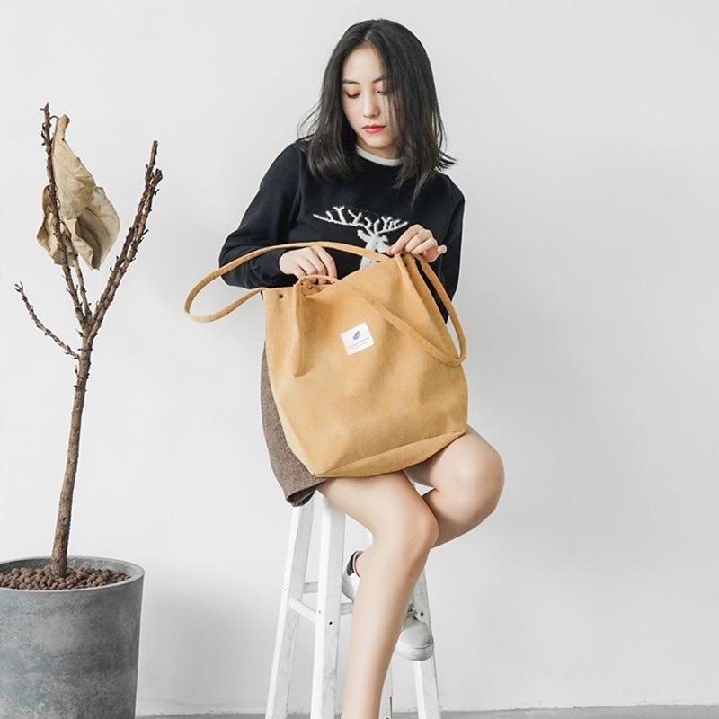 ✨手提包大容量肩背包2020新款帆布包包女單肩斜跨韓版ins文藝小清新大容量手提購物袋 休閒包