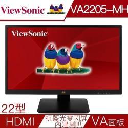 ViewSonic優派 VA2205-MH 22型VA雙介面抗藍光零閃屏液晶螢幕