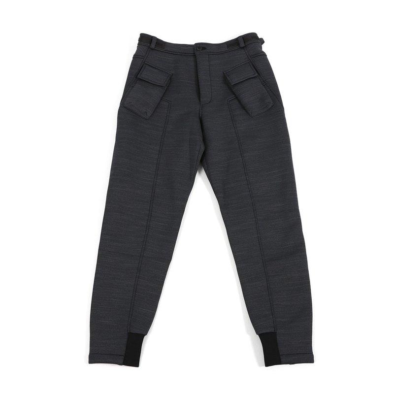 【新年換新衣】WEAVISM 多口袋太空棉褲 - 黑